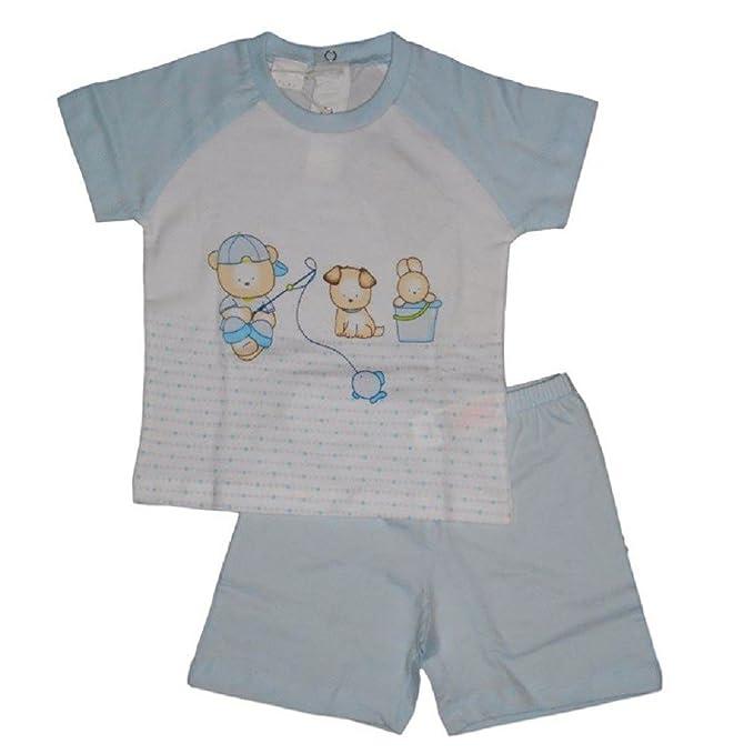 MELBY - Pijama entero - para bebé niño azul claro 24 meses
