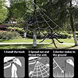 "MOVINPE 200"" Halloween Spider Web + 2pcs 30"" Giant"