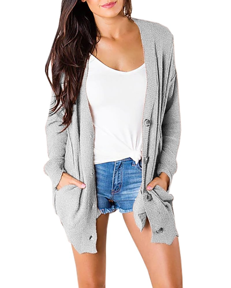 Tutorutor Womens Cardigans Casual Button up Shirts Oversized Lightweight Cardigan Sweaters for Women