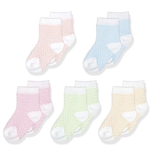c94bcab7a OLABB Unisex Baby Socks Mesh Breathable Socks for Summer Ankle Socks 5 Pack  (Multicolored,