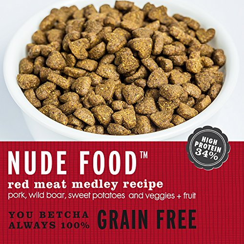 """I and love and you"" Nude Food Red Meat Medley Grain Free Dry Dog Food, 5 LB"