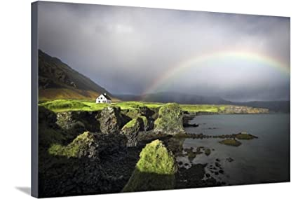 Amazon.com: ArtEdge White House by Marco Carmassi, Stretched Canvas ...