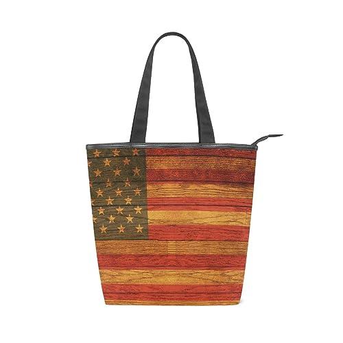XiangHeFu Borse da donna bandiera americana borsa a tracolla in tela ...