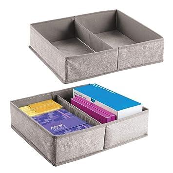 design intemporel d4ff3 e032e mDesign boîte de rangement pour tiroirs (lot de 2) ? boîte ...