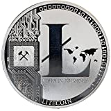 Litecoin Coin Cryptocurrency Silver Plated - Challenge Crypto Coins Come in Round Cases. (1 Pack)