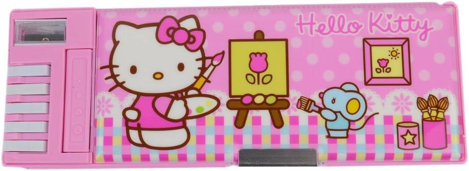 Hello Kitty XLJ auténtico multifuncional creativa estudiantes o estuches KT9312, color rosa claro: Amazon.es: Oficina y papelería