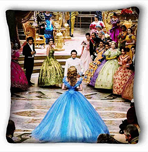 Soft Pillow Case Cover ( cinderella movie ) Pillow Cushion Case Cover One Sides Printed 26x26 Inches suitable for Full-bed