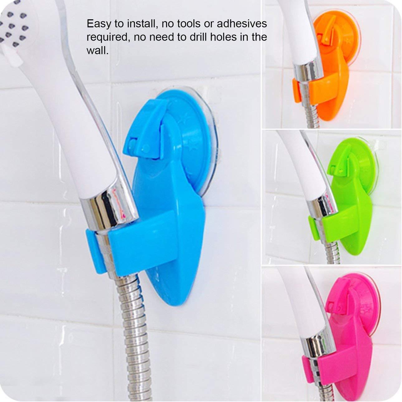 Ballylelly Robusta ventosa Base di fissaggio per doccia Supporto per soffione doccia Staffa per rack Pratico supporto per ugello per doccia Accessori per il bagno