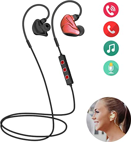 Amazon Com Bluetooth Headphones Wireless Headphones Bluetooth Headset Earbuds With Noise Cancelling Mic For Iphone Samsung Lg Moto Women Men Running Workout Gym Home Audio Theater