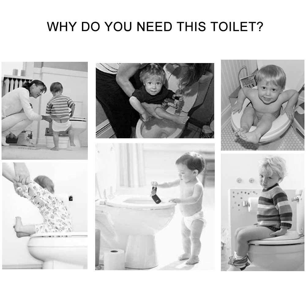 M/ädchen Stabiles und bequemes Toilettent/öpfchen Leicht zu transportierender und zu reinigender Toilettentrainer f/ür Babys Kleinkinder und Kinder lesgos Babytopf mit Deckel Jungen