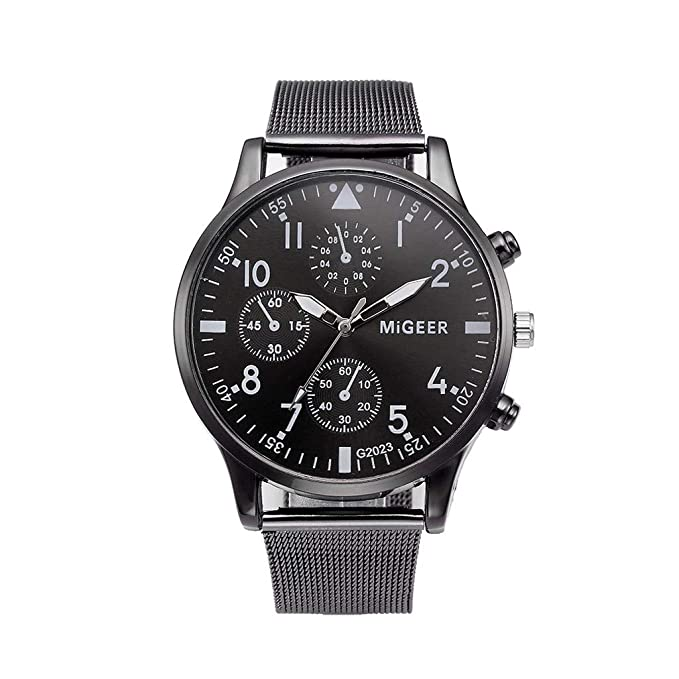 DressLksnf Reloj Lujo Moda de Mujer Pulsera de Acero Inoxidable Superficie Negro Durable Correa de Malla Digital Clásico Banda de Reloj Colorado Ajuste ...