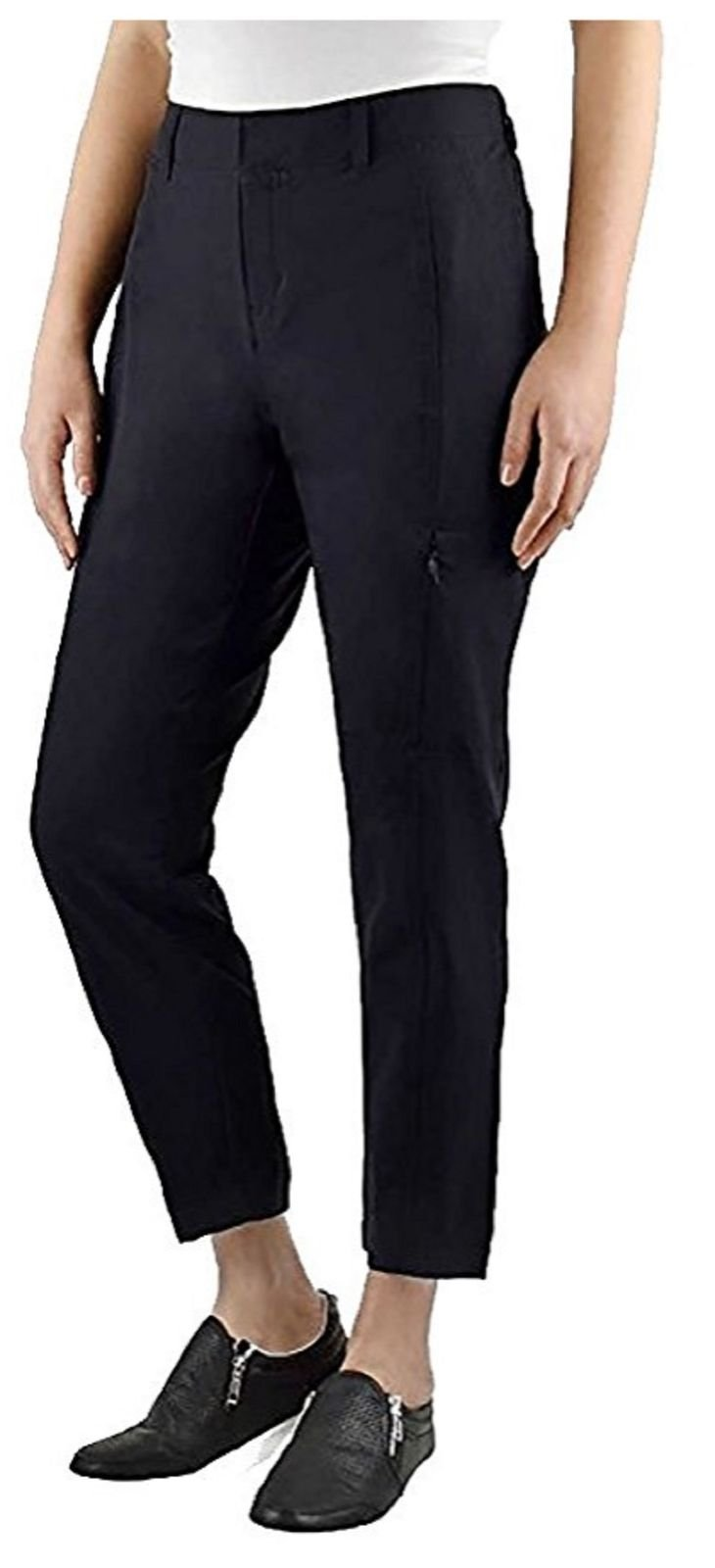 Kirkland Signature Ladies' Ankle Length Travel Pant (12, Black)