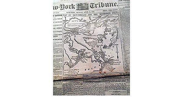 US CONFEDERATE STATES 1862 LA MAP FELICIANA  PARISH LOUISIANA CIVIL WAR HISTORY