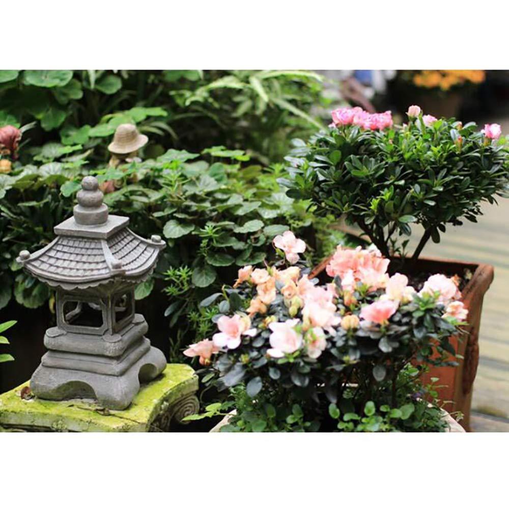 zenggp Japanese Style Solar Zen Garden Lights Lantern Pagoda Light Solar Garden Lamp Statue by zenggp (Image #3)