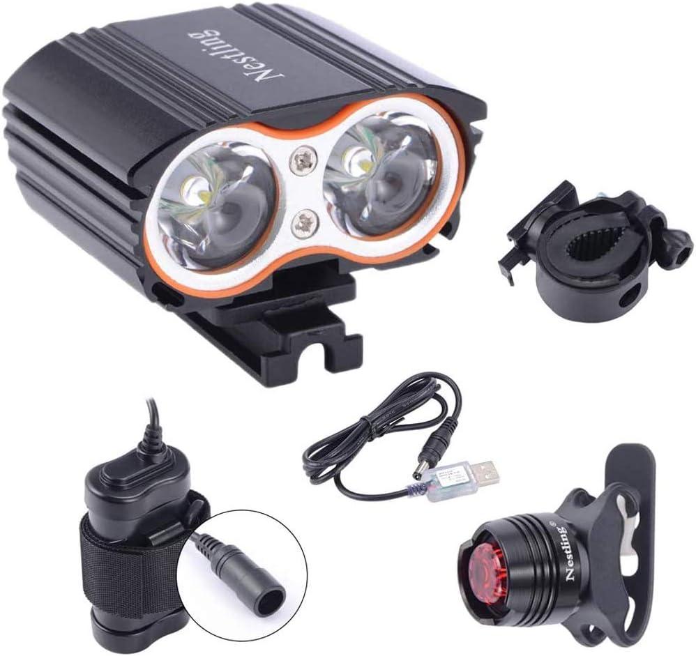 NOVPEAK USB bike light charging highlight lamp mountain front taillight set