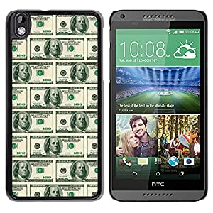 MOBMART Carcasa Funda Case Cover Armor Shell PARA HTC DESIRE 816 - American Dollar Notes