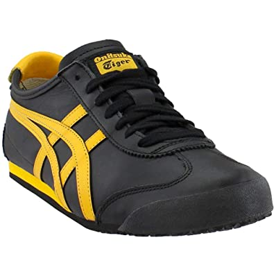 newest 5e294 de77f Onitsuka Tiger Unisex Mexico 66 Shoes D4J2L, Black Gold Fusion, 4 M US