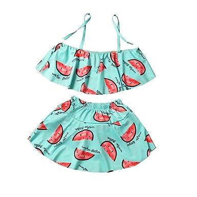 3d861246df6ba Fabal Baby Watermelon Toddler Kids Tankini Bikini Bathing Suit Girls  Swimsuit (70