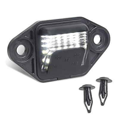 RUXIFEY License Plate Lights Replacement Compatible with Ford E150 E250 E350 E450 E550 Super Duty Econoline Pickup Truck, 6000K White, Pack of 2: Automotive