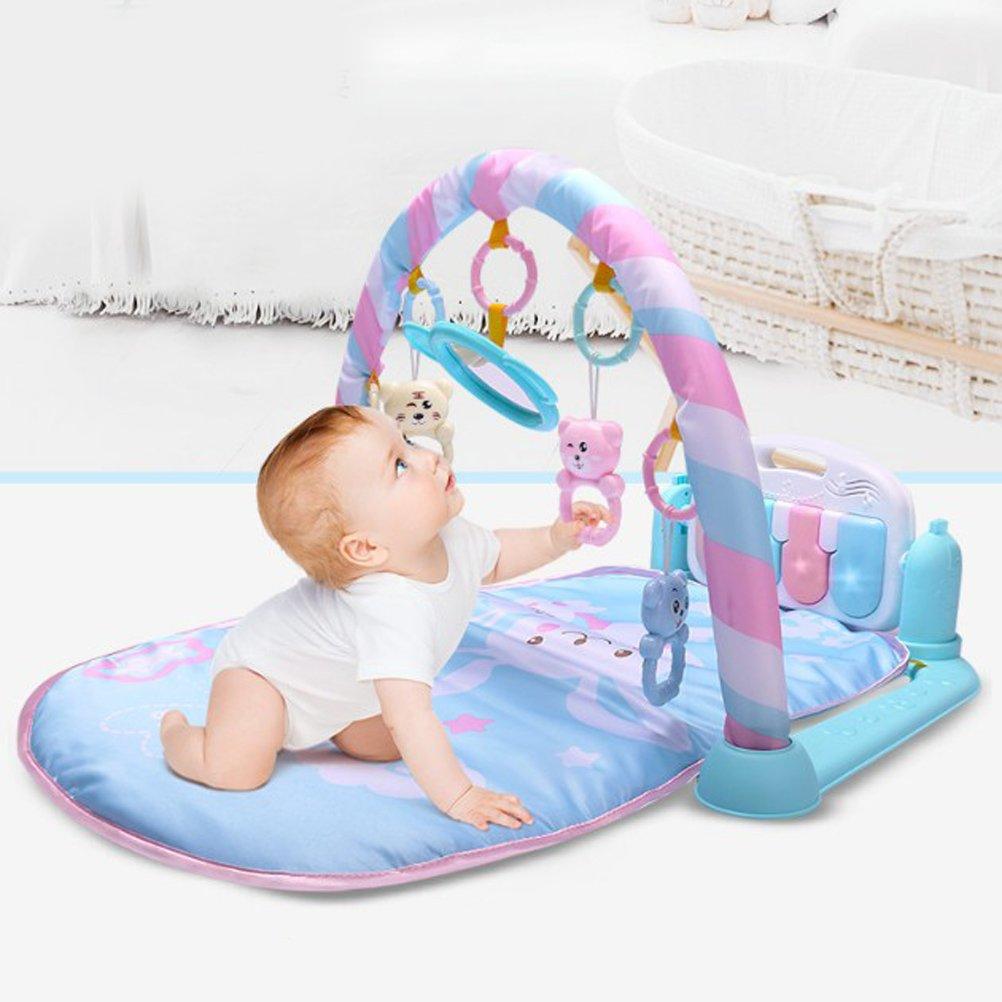 Manta de fitness con piano a pedales para gimnasio de bebés de 0 a 36 meses, color azul, de ToyMYTOY