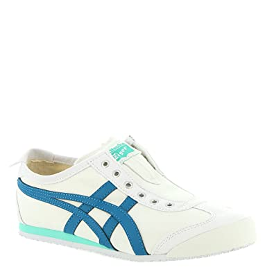 new style d907c ae92a Onitsuka Tiger by ASICS Mexico 66 Slip-On Women's Sneaker 8.5 B(M) US  White-Turquoise