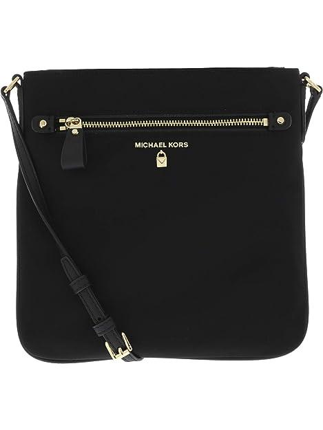 23776956997cc Michael Kors Women's Large Kelsey Nylon Crossbody Cross Body Bag - Black