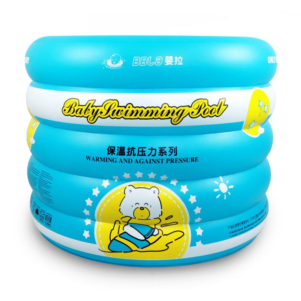 Baby Schwimmbad/Home Neugeborenen Bad für Kinder/Isolierung Verdickung Pool/Familie Runde aufblasbare Babyschwimmen ein Rohr-A