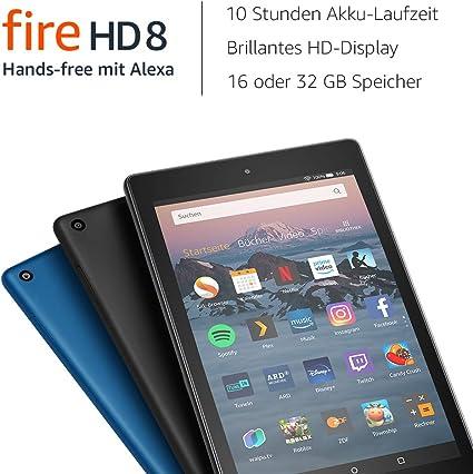 Fire Hd 8 Tablet Zertifiziert Und Generalüberholt 16 Gb Blau Mit Werbung Vorherige Generation 8 Amazon Devices