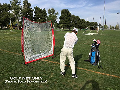 PowerNet Golf Practice 7ft x 7ft NET ONLY | 49 sqft of Hitting Area | Replacement Net | Perfect for Any Backyard, Driveway or Garage | Great for Working on Any Type of Swing by PowerNet (Image #1)