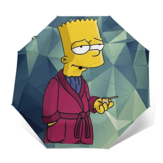 LiuYeWen Bart-Simpson - Paraguas Plegable con impresión Exterior ...