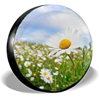 Olive Croft Wild Daisy Spare Tire Cover Universal Wheel Covers for Trailer RV SUV Truck Vehicles 14-17inch