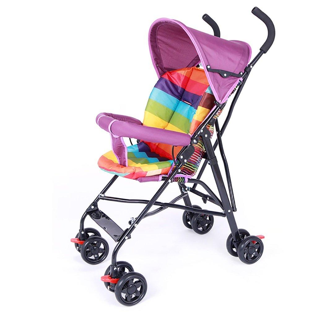 赤ちゃんのベビーカー超軽量ポータブルシンプルな折り畳みミニ赤ちゃんの傘子供子供四季の観光トロリー夏 (色 : Purple)  Purple B07PRHL95F