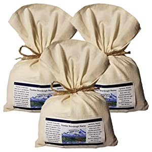 Bounty Foods Montana Frontier Sourdough Starter Mix - 3 Pack of 16 Ounce Bags