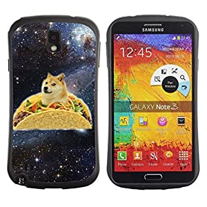 Hybrid Anti-Shock Bumper Case for Samsung Galaxy Note 3 / Taco Dog Meme