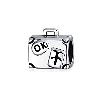 e0590c58bfa2 Luggage Travel Suitcase Vacation Charm Bead For Women For Teens 925  Sterling Silver Fits European Bracelet