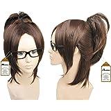 2013 Wig Attack on Titan Shingeki No Kyojin Hanji Zoe Dark Brown Cosplay Wig