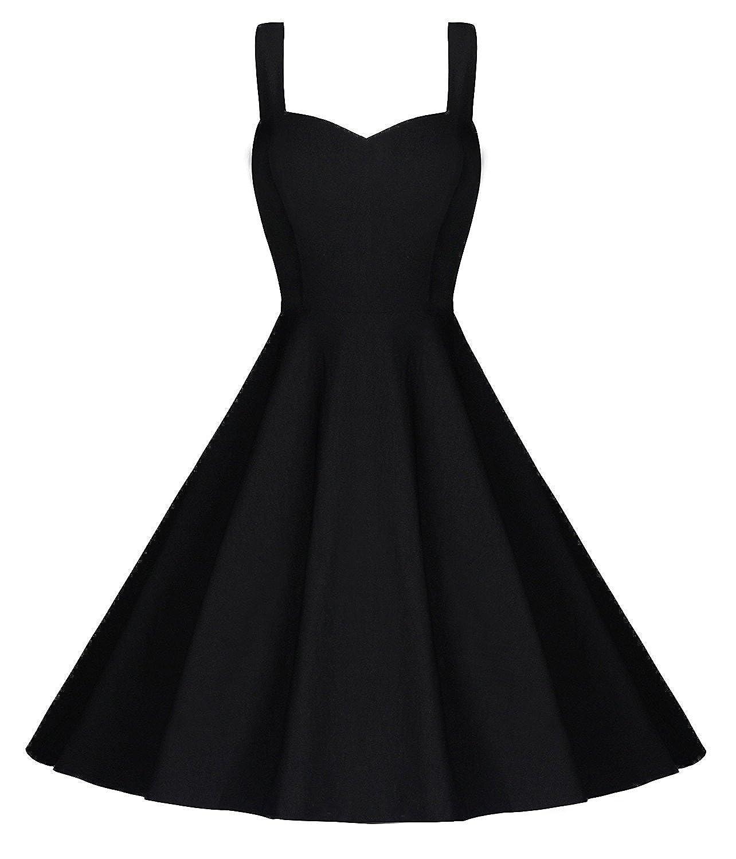 Black 2 Beauty Decor Women's Elegant Dress ALine Cap Sleeve V Neck Little Cocktail Party Dresses