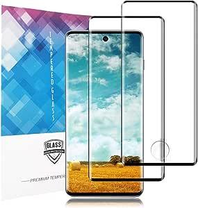 واقي شاشة لهاتف Samsung Galaxy S20 plus ، زجاج صلب Samsung Galaxy S20 Plus [عبوتان]، غشاء شاشة HD 9H زجاج مقاوم للكسر لهاتف Samsung Galaxy S20 Plus (6. 7 بوصات)