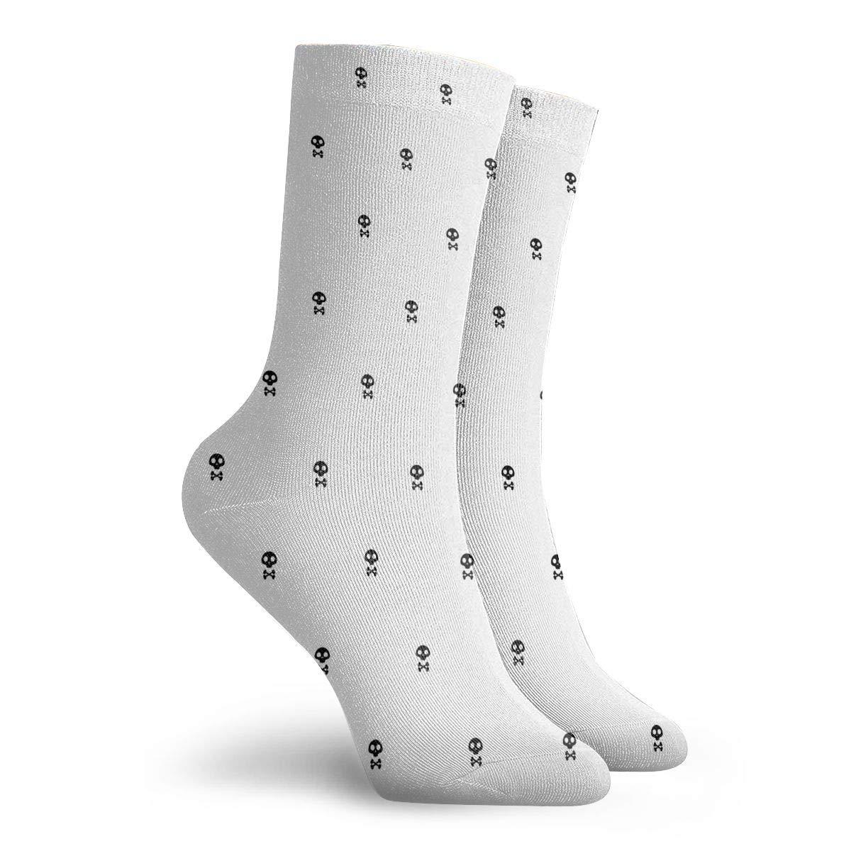 Unisex Skull On The White Background Athletic Quarter Ankle Print Breathable Hiking Running Socks