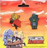 Fullmetal Alchemist Metallic Pins Set of 2