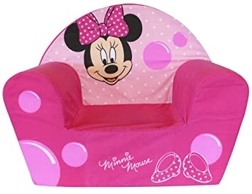Fun House 712173 - Sillón de Espuma, diseño de Minnie Mouse, poliéster (52 x 33 x 42 cm), Color Rosa