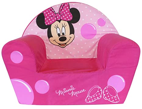 Fun House 712173 - Sillón de Espuma, diseño de Minnie Mouse, poliéster (52 x 33 x 42 cm), Color Rosa