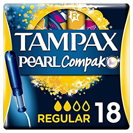 Tampax Compak Perla Súper tampones con aplicador X18 - juego de 3: Amazon.es: Salud y cuidado personal