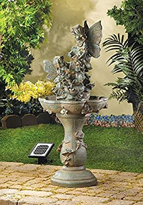 Garden Solar Relaxation Fairy Fountain Indoor Outdoor Pond Mainstays Decor Pump Home Waterfall Feng Sui Decorative