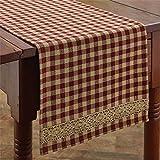 Park Designs Crochet Gingham Table Runner Home Decor