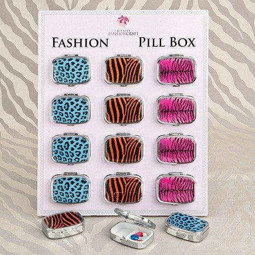 180 Animal Print Pillboxes