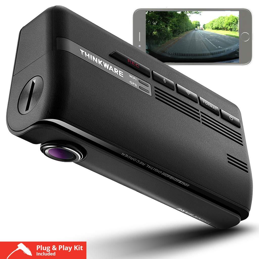 Thinkware F770車のダッシュカム1CH 16GBフルHD 1080 p、Wi-Fi、GPS、シガーライター充電器   B01G0VFHR8