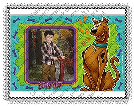 12 Sheet Scooby Doo And You Add Your Picture Photo Frame Edible