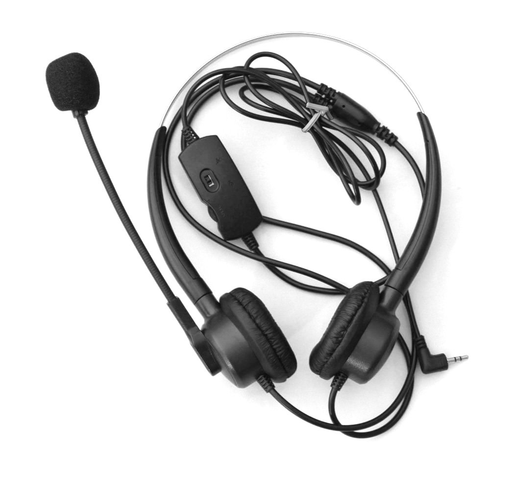 Comdio 2.5mm Call Center Telephone Headset Headphone with Mic + Volume Mute Controls for Cisco Linksys Cisco SPA303G SPA302D SPA302DKIT NEC I755 IP DECT ML440 MH240 MH160 MH150 IP Phones (H203VP5)