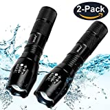 #5: Wsky LED Tactical Flashlight -Best S1800 Powerful Waterproof Flashlight - Perfect for Camping Biking Home Emergency or Gift-Giving (Batteries Not Included)